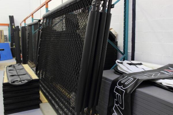 Zebra cage panel production